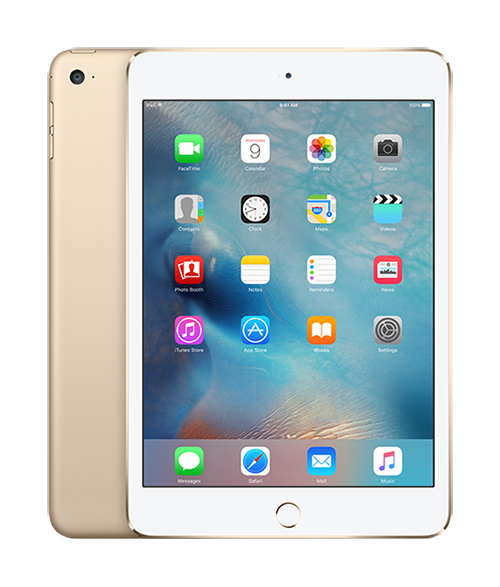 Cover Image For iPad Mini 4 WiFi + Cellular - 128GB Gold