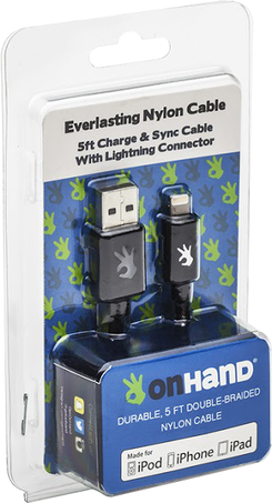 Image For OnHand Lightning to USB 5ft - Black