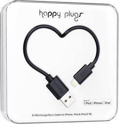 Image For Happy Plugs Lightning to USB 2m - Black