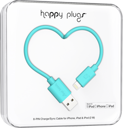 Image For Happy Plugs Lightning to USB 2m - Turquoise