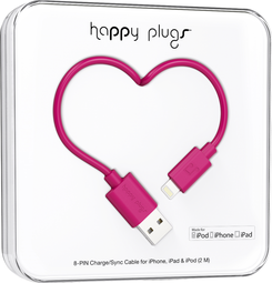 Image For Happy Plugs Lightning to USB 2m - Cerise