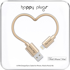 Image For Happy Plugs Lightning to USB 2m - Champagne