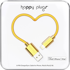 Image For Happy Plugs Lightning to USB 2m - Gold