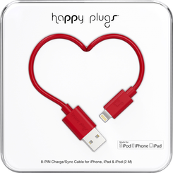 Image For Happy Plugs Lightning to USB 2m - Red